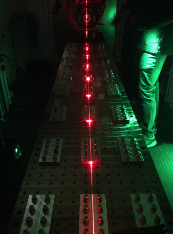 Test cell laser alignment